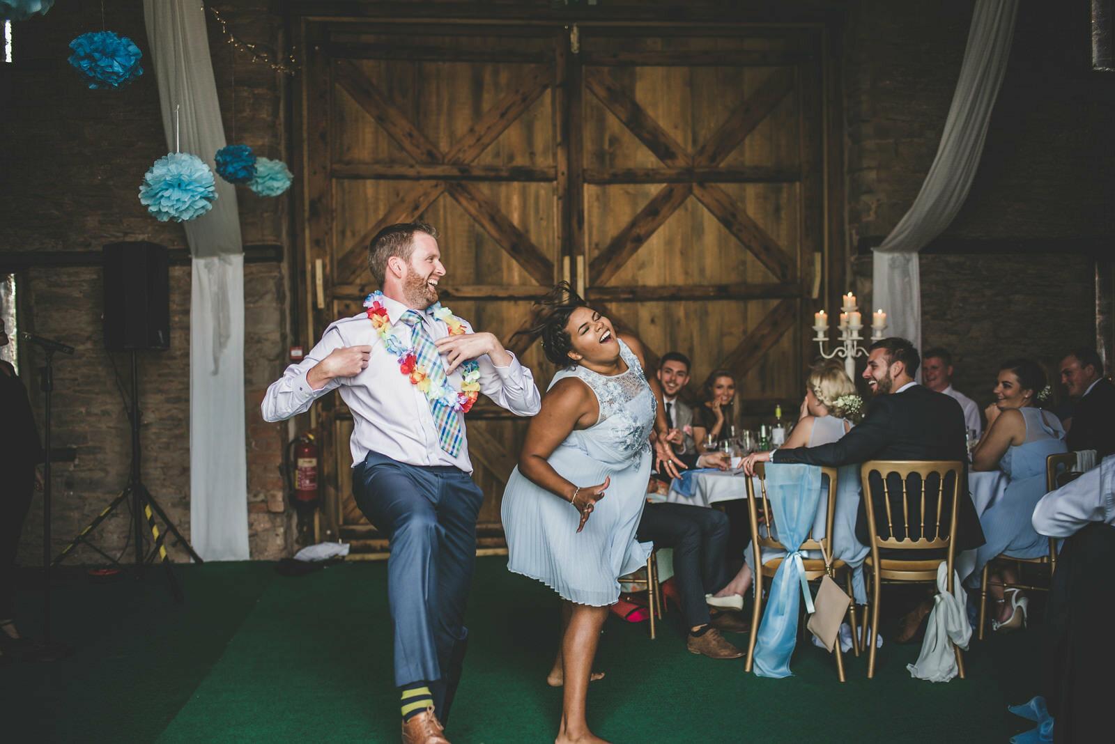 Singing waiters wedding