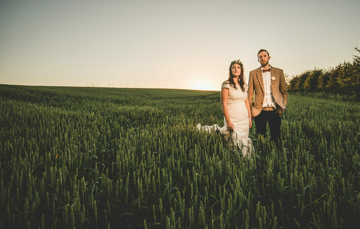 Lyde Court wedding portrait